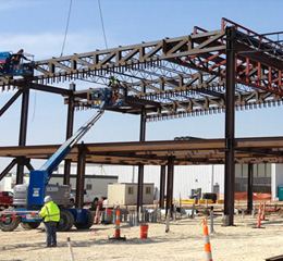Structural Steel Building Michigan - Midwest Steel - a-airport-wichita
