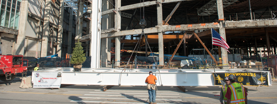 Cobo Center Steel Contracting & Construction Project - Midwest Steel - 0cobo2