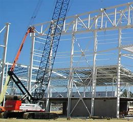 Wichita Mid-Continental Airport - Steel Fabrication - a-usaf-c-5-hangar