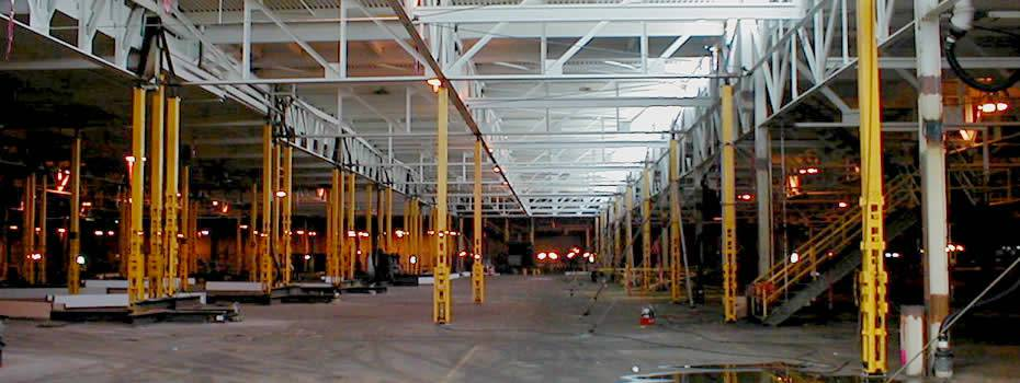 Ford Dearborn Stamping Plant - Roof Jacking - Midwest Steel - fordmotor_cleveland_engine_roof_jackin